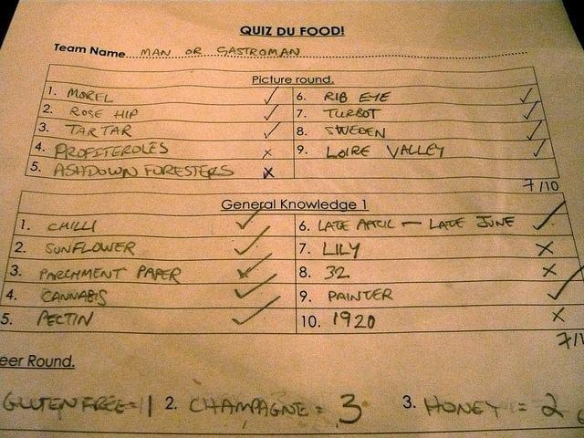 365.292: Quiz du food!