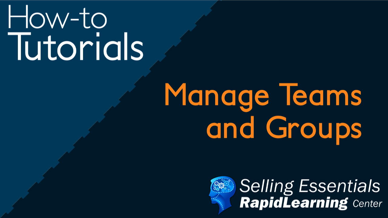 Manage Team and Groups